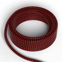 Textilkabel Röd/Svart