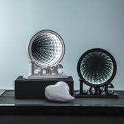 Inomhusdekoration Mirror Light Love Svart