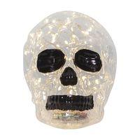 Halloween Dödskalle Glasdekoration