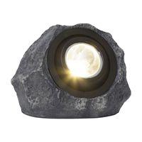 Solcellsspotlight Rocky Grå 18lm