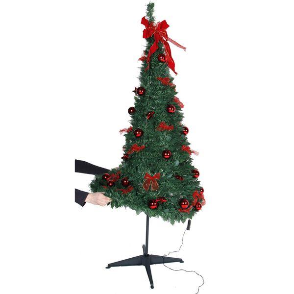 Julgran med LED Pop-Up-Tree Guld 185cm