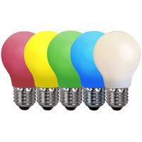 LED lampa normal 0,8W E27 Färgade