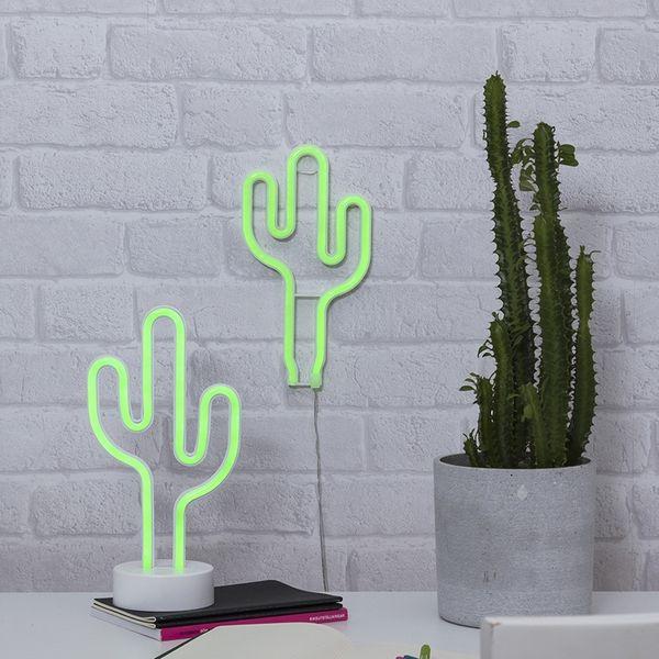 Neonlight Kaktus Vägg Batteri