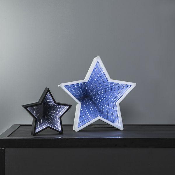 Inomhusdekoration Mirror Light Stjärna Svart 20cm