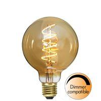 Dimbar Globlampa Ø95 Spiral Amber LED 3,5W 160lm E27