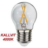 Kallvit Klotlampa Filament LED 2,3W 270lm E27