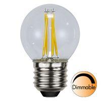 Dimbar Klotlampa Filament LED 4,2W 420lm E27