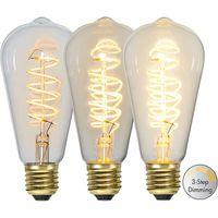 Dimbar Globlampa Ø95 Spiral LED 4,0W 270lm E27 3-step dimming