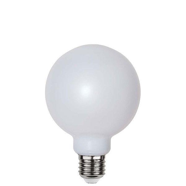 Globlampa Ø95 Filament Opal LED 1,2W 85lm E27 Polykarbonat