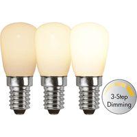 Dimbar Päronlampa Filament Opal LED 2,0W 150lm E14 3-step dimming