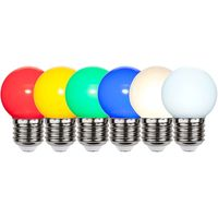 LED Lampa Klot Polykarbonat  1,0W E27 Färgade