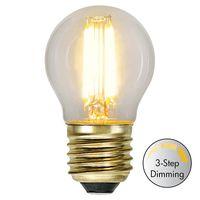 Dimbar Klotlampa Soft Glow LED 4,0W 400lm E27 3-step dimming
