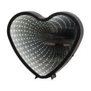 Inomhusdekoration Mirror Light Hjärta Svart