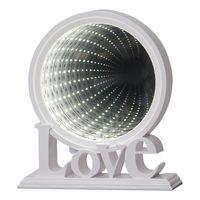 Inomhusdekoration Mirror Light Love Vit