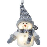 Juldekoration Joylight Grå Snögubbe 25cm