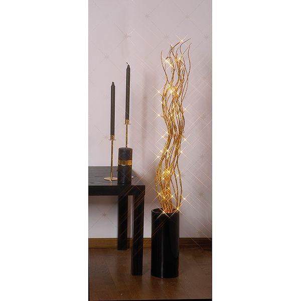 Willow dekorationskvist guld