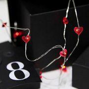 Dew Drops Heart 12 LED Varmvit/Silver för batteri