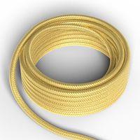 Textilkabel Metallisk Guld