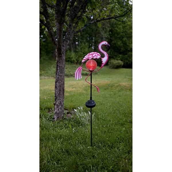 Solcellsdekoration Flamingo