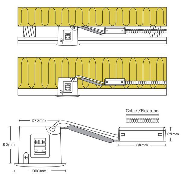 Scan Products LED Downlight Alda 230V Borstad aluminium Utan ljuskälla