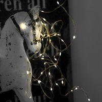 Dew Drops String 40 LED Varmvit/Mässing för batteri