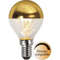 Dimbar Toppförspeglad Klot Guld LED 3,5W 250lm E14
