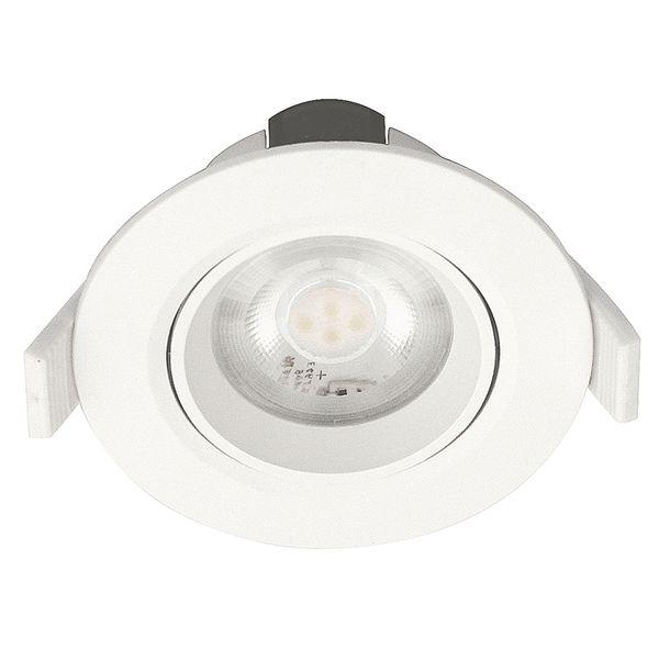 LED Downlight 230V 6,5W IP44 Vit