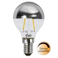 Dimbar Toppförspeglad Klot Silver LED 3,5W 250lm E14