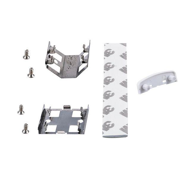 Direktkoppling, clips, skruvar och dubbelhäftande tejp till LED-list 150mm