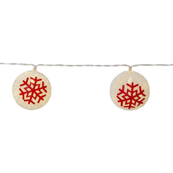 Juldekoration Ljusslinga Ornament Röd
