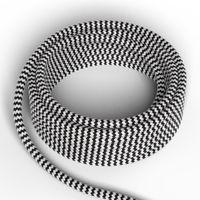 Textilkabel Svart/Vit