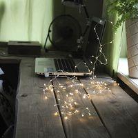 Dew Drops String 100 LED Chaser Dagsljus/Silver för USB