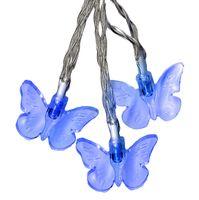 Ljusslinga Butterfly LED för batteri 15-ljus