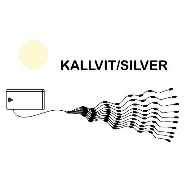 Dew Drops Bundle 80 LED Kallvit/Silver för batteri