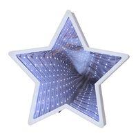Inomhusdekoration Mirror Light Stjärna Vit 32cm