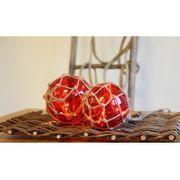 Noah Marin glasboll 12cm, röd