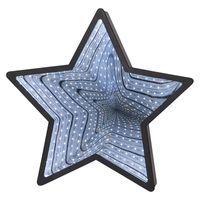 Inomhusdekoration Mirror Light Stjärna Svart 32cm