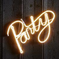 Party Siluett Neon