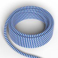 Textilkabel Blå/Vit