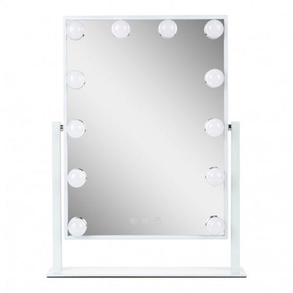 Sminkspegel Upplyst 47,5cm Svart