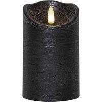 Blockljus Flamme Rustic Silver 12,5cm