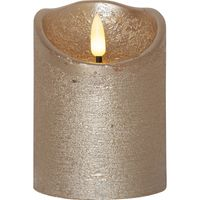 Blockljus Flamme Rustic Silver 10cm