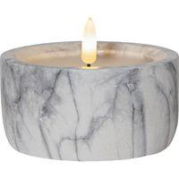 Blockljus Flamme Marble 12,5cm