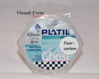 Platil leader. Fluorocarbon 25 m, 0.14 mm