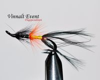 Helmsdale Black Shrimp size 6 (Double hook)