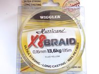 Hurricane 8 Braid 0,14 mm=11,8 kg