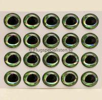 Epoxy Ögon ultra 3D gröna