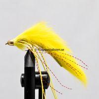 Conehead Muddler/zonker Yellow size 8