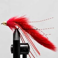 Conehead Muddler/zonker† Red size 8