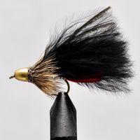 Conehead Muddler Black Marabou